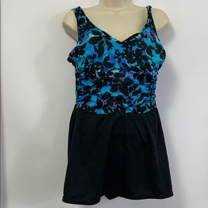 CATALINA FLORAL SWIMSUIT Size XL 16/18